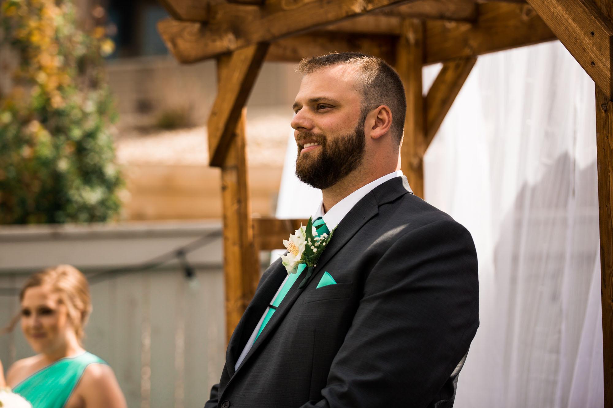 Calgary wedding photographer - wedding photography for an intimate backyard wedding