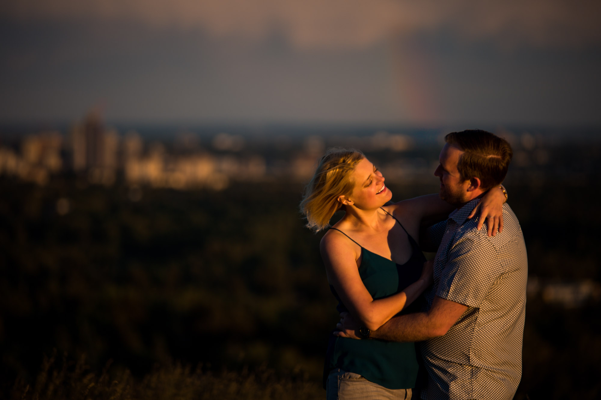 Calgary wedding and engagement photographer - Nose Hill Park engagement photography