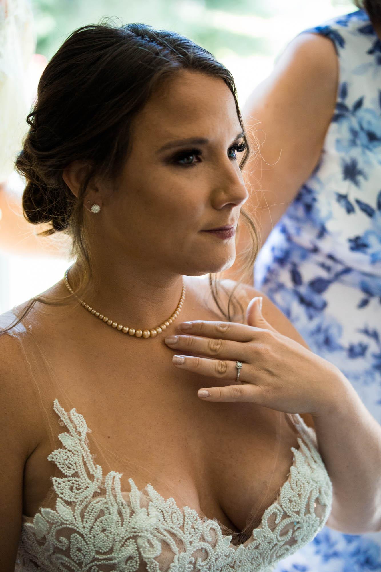 Calgary wedding photographer - bride getting ready