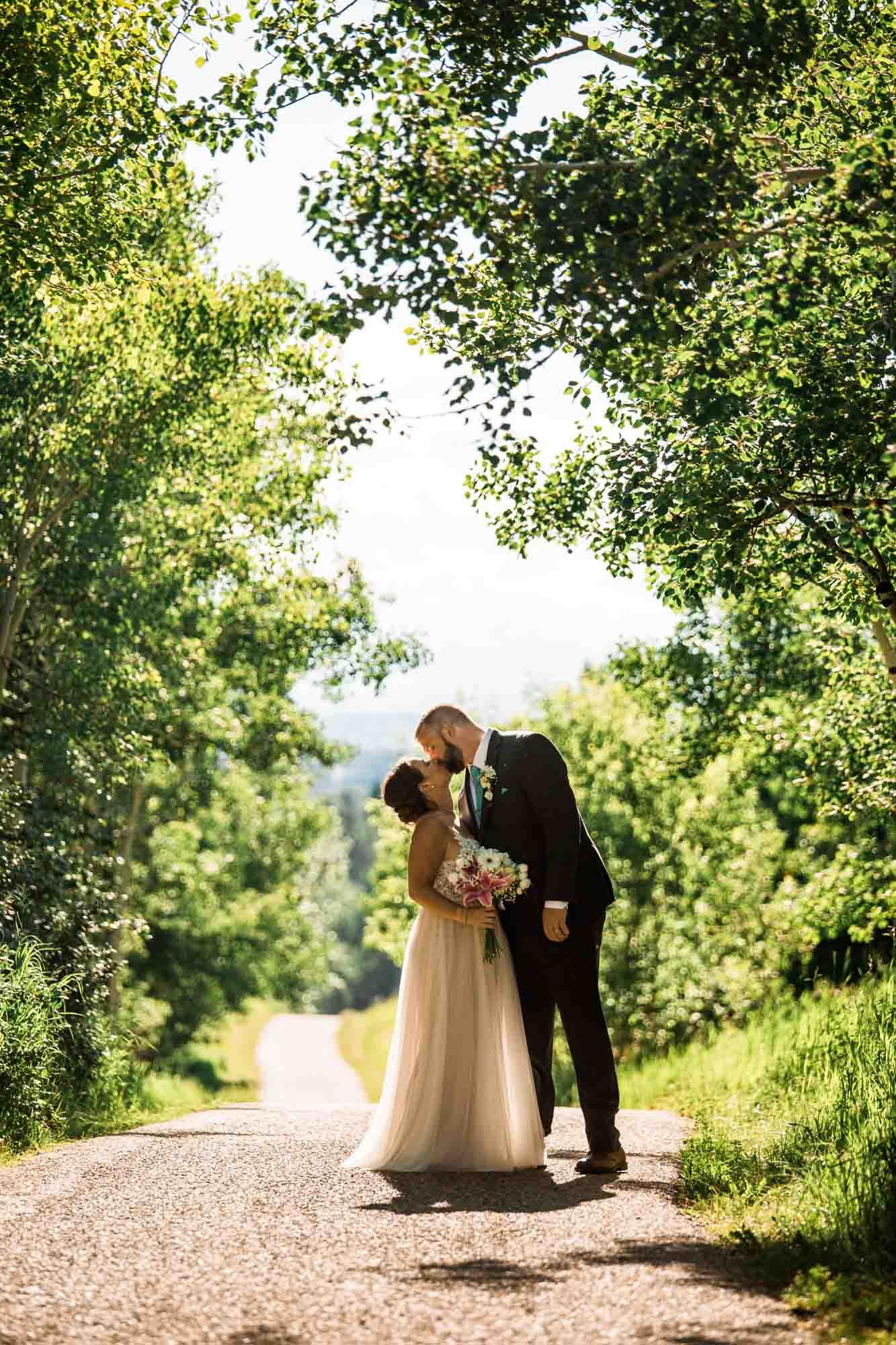 Calgary wedding photographer - Nose Hill Park bridal portraits