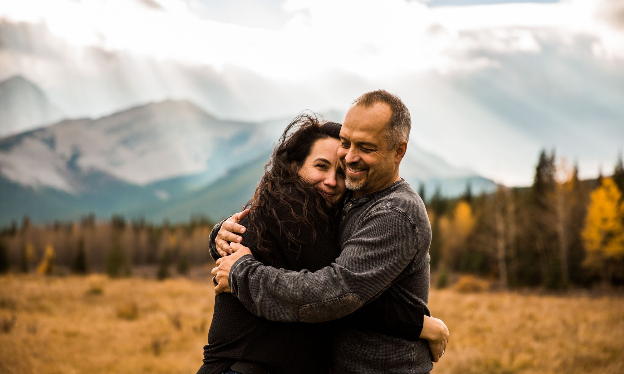 Calgary wedding photographer - Kananaskis engagement photos