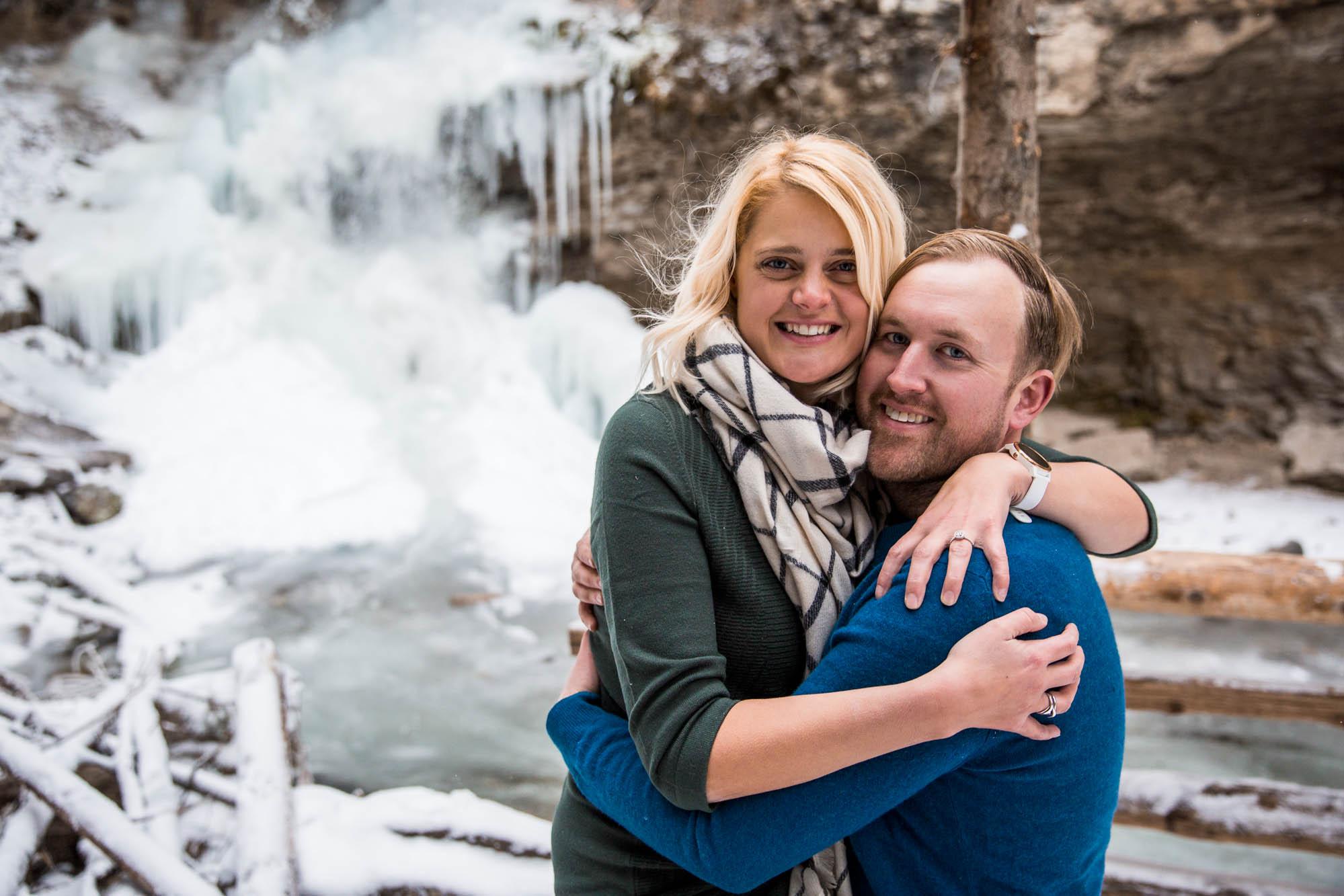 Calgary wedding photographer - Troll Falls, Kananaskis engagement session
