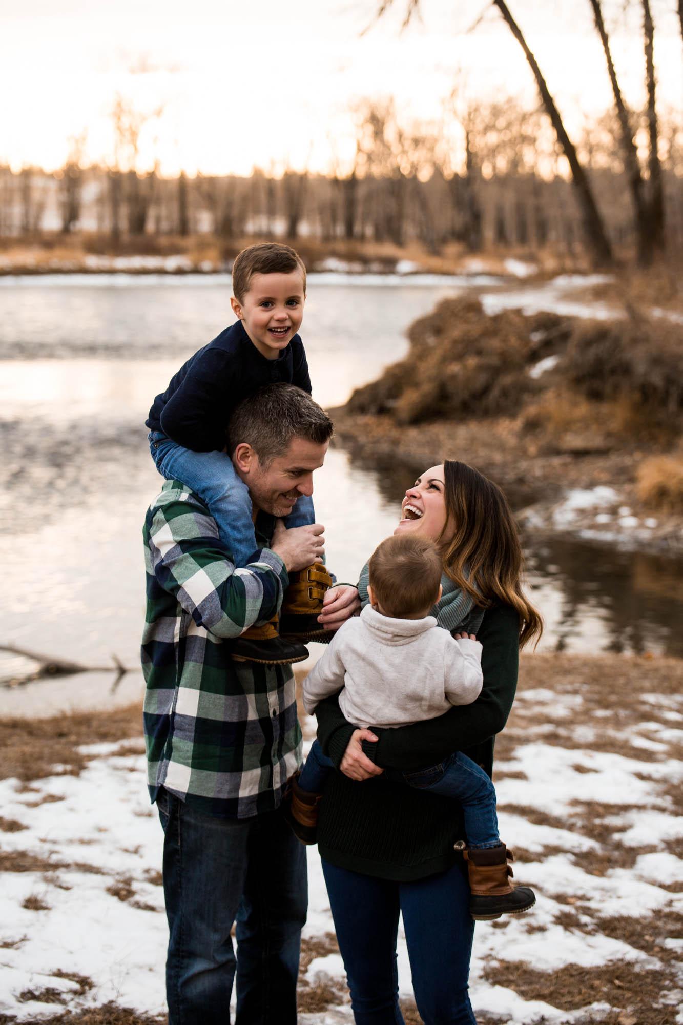 Calgary family photographer - family photography at Carburn Park