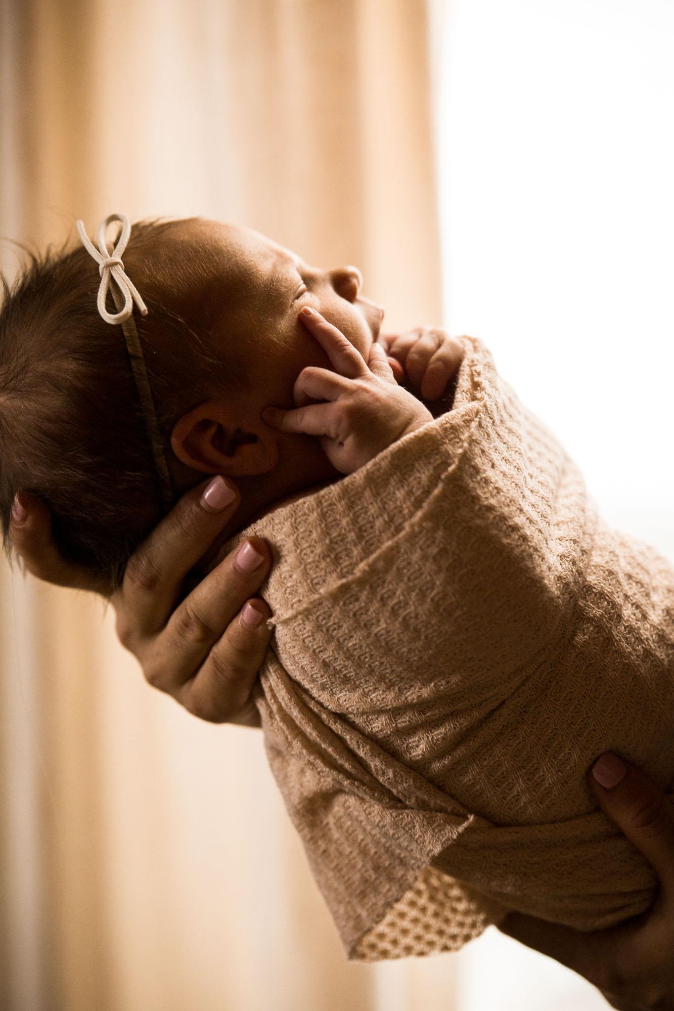 Calgary newborn photographer - in-home lifestyle newborn photography