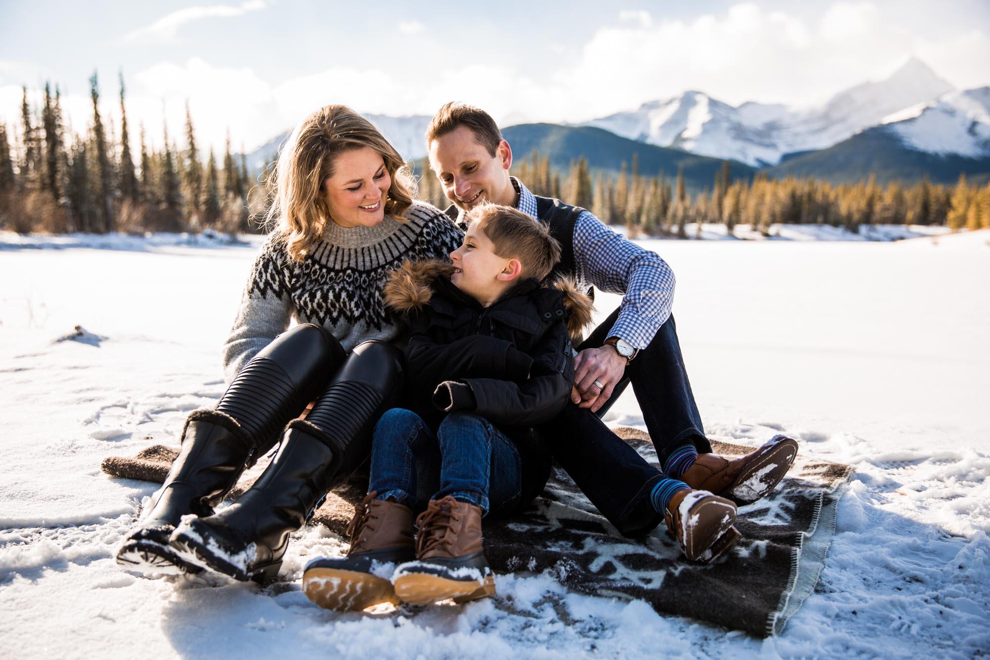 Calgary family photographer - mountain family photography in the Kananaskis