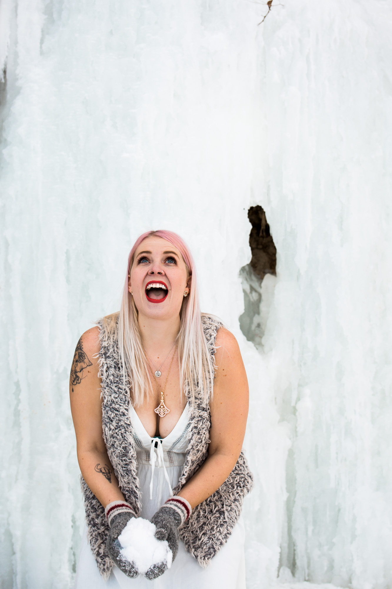 Calgary photographer - photos at the Fish Creek Park Ice Caves
