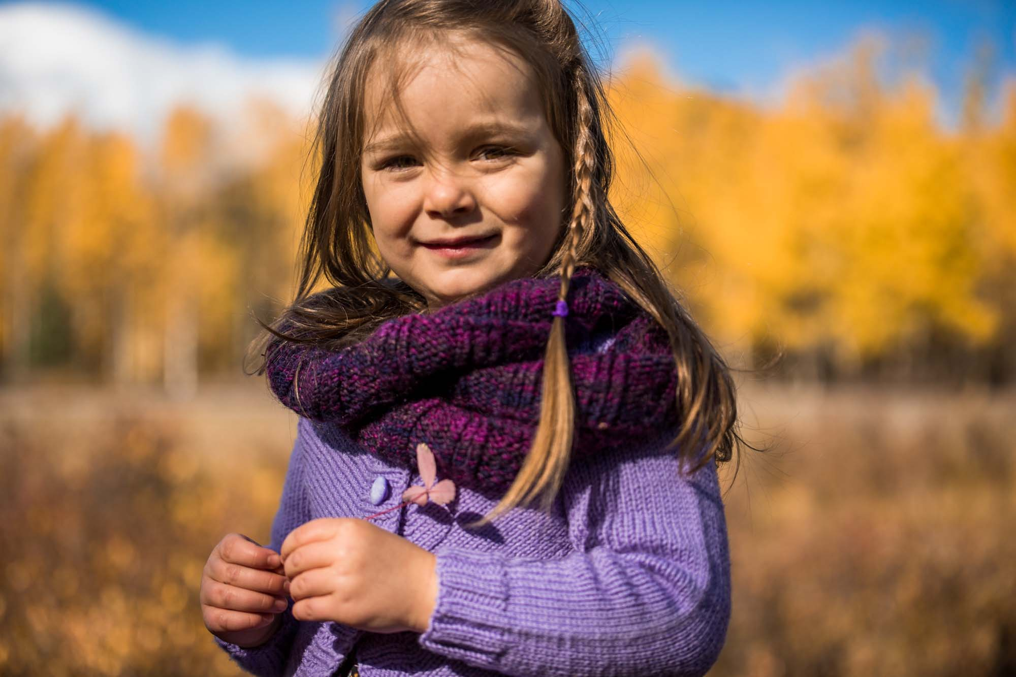 Learning photography - outdoor fall family photography