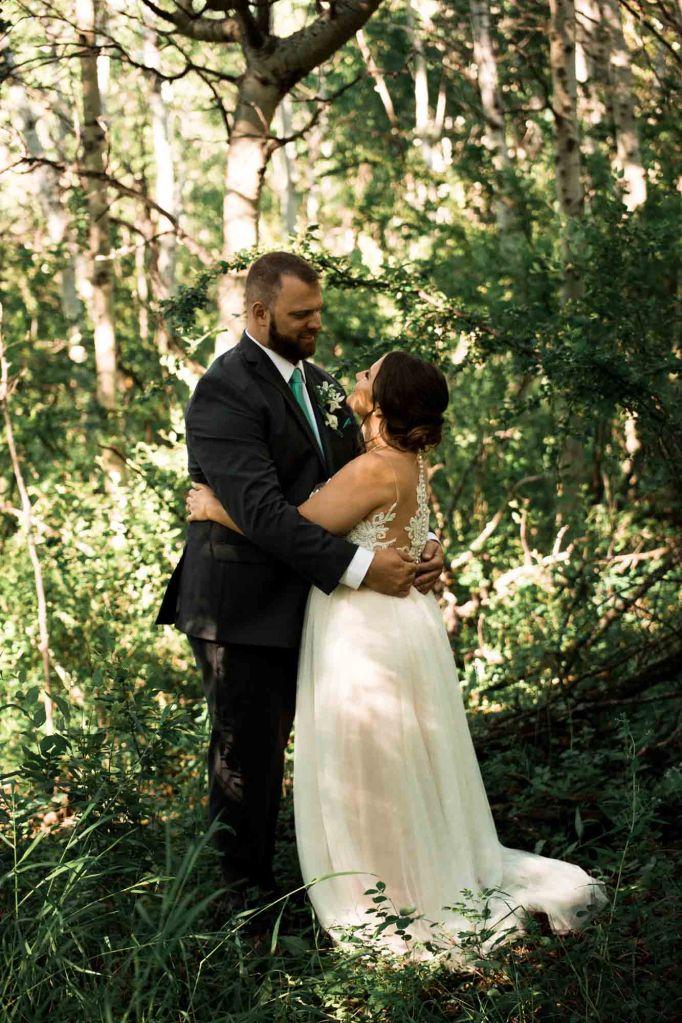 Calgary wedding photographer - Micro wedding bridal portrait at Nose Hill Park