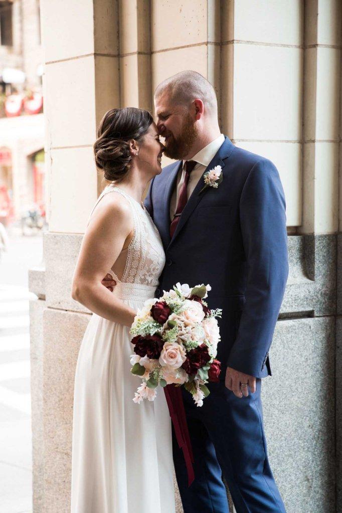 Calgary wedding photographer - Downtown Calgary restaurant wedding