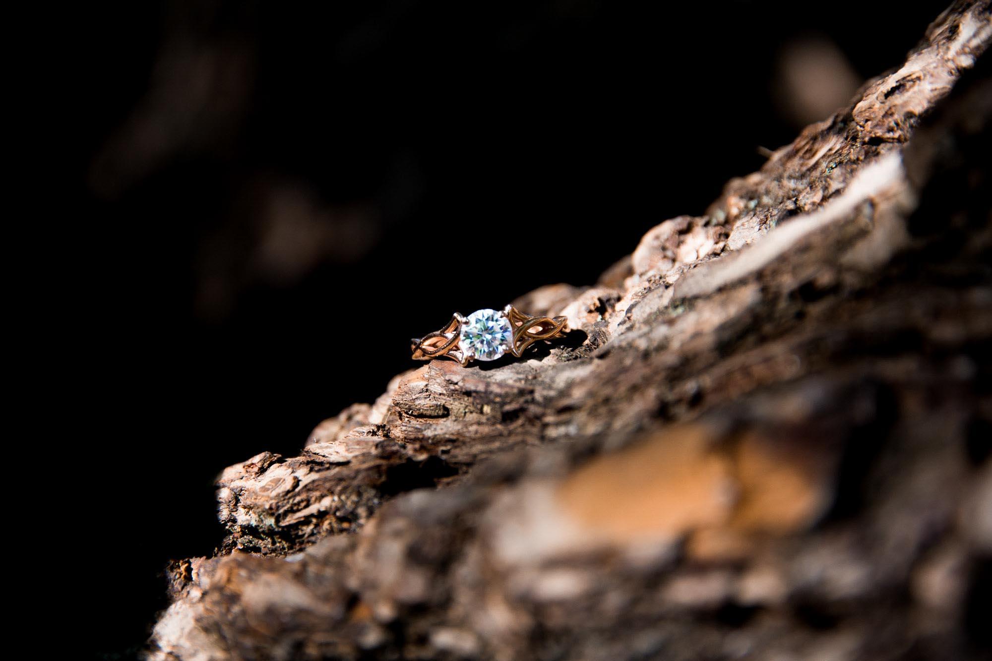 Calgary engagement and wedding photographer, photo of the engagement ring