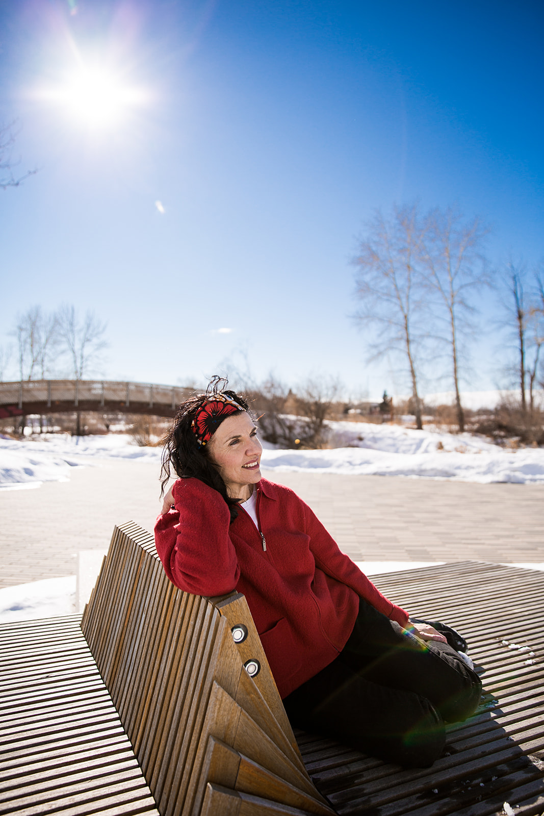 Calgary branding photographer, headshot at St patrick's Island