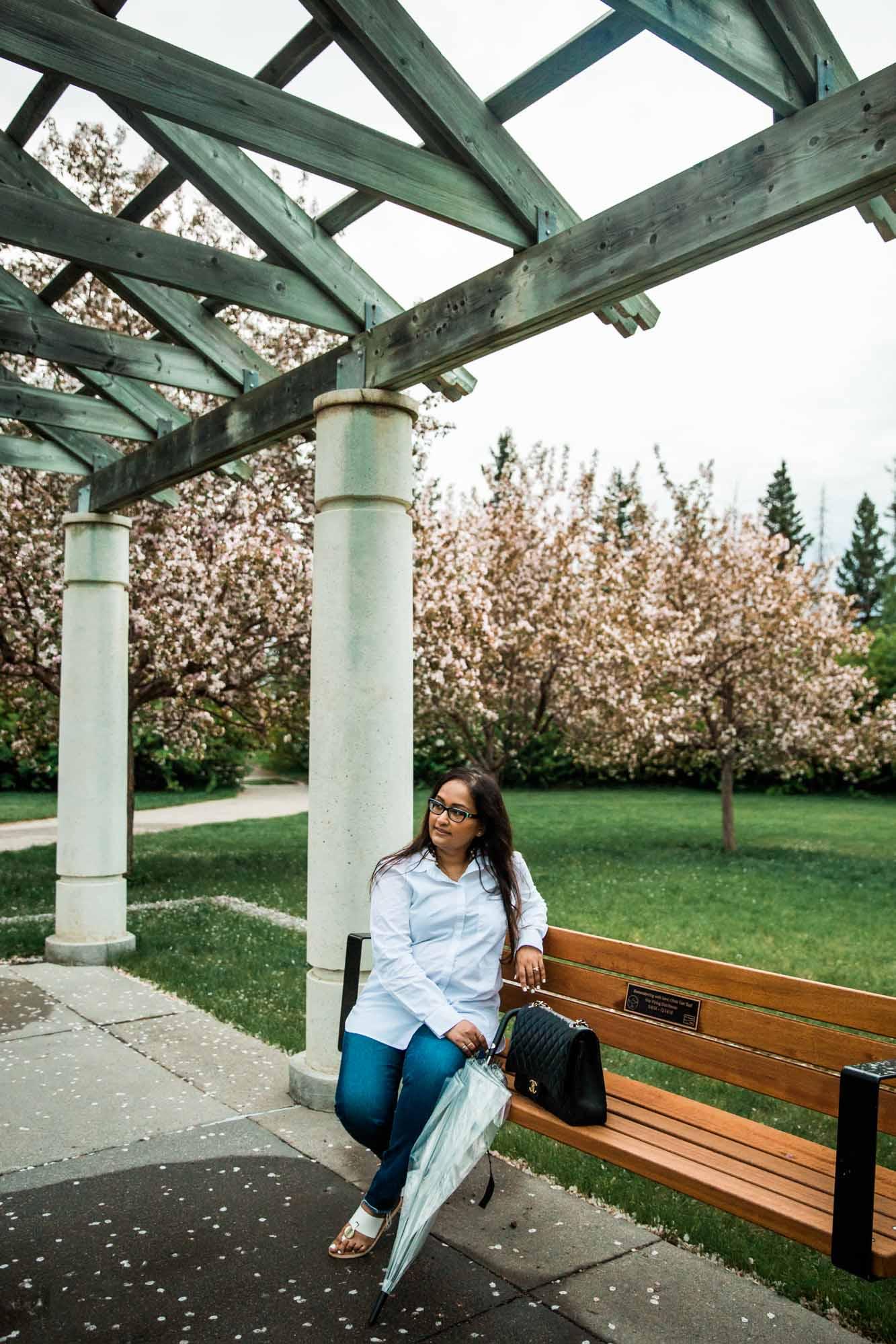 Calgary branding photographer, headshots at Baker Park