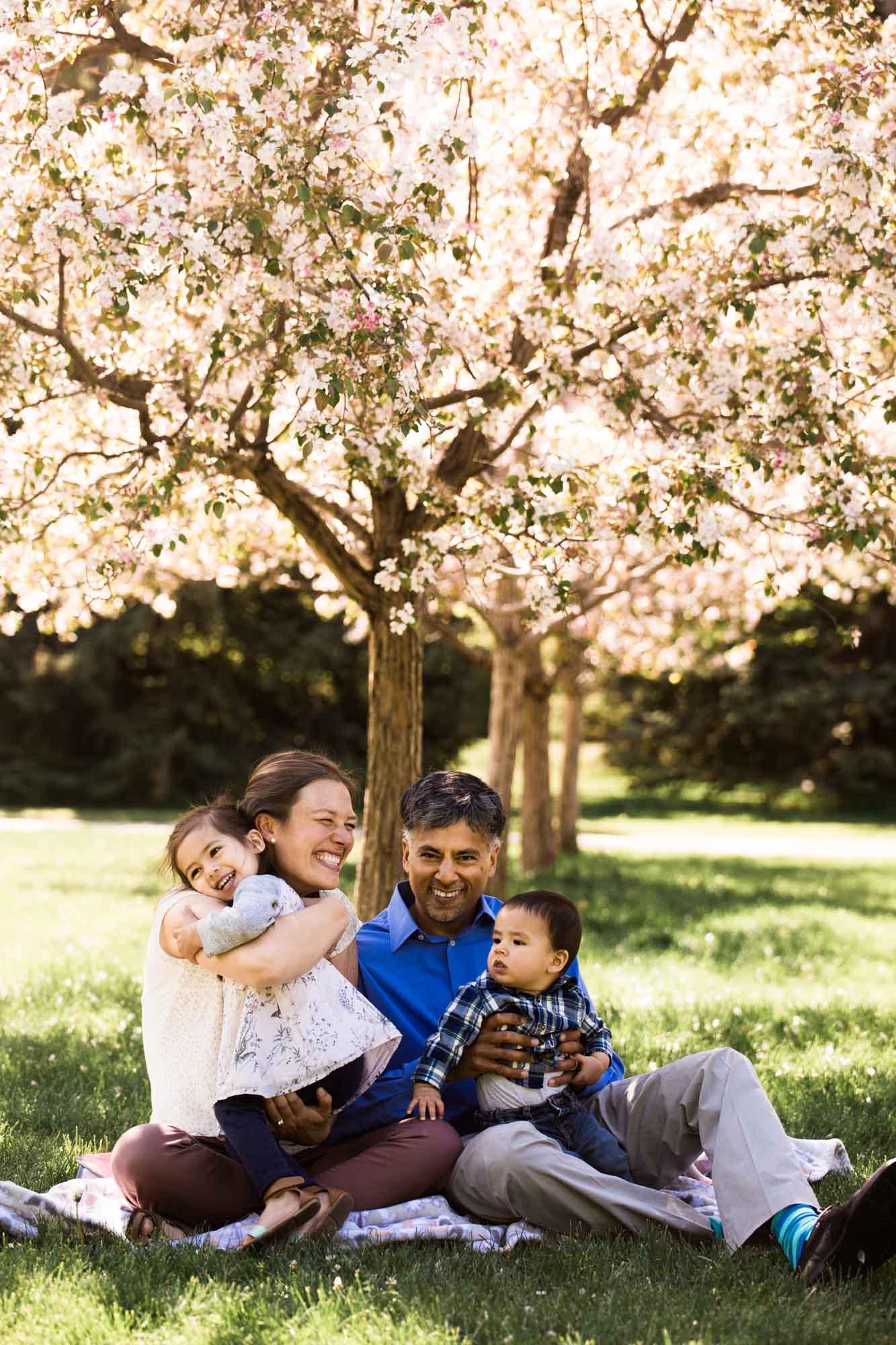 Calgary family maternity and newborn photographer, family photo at Baker Park