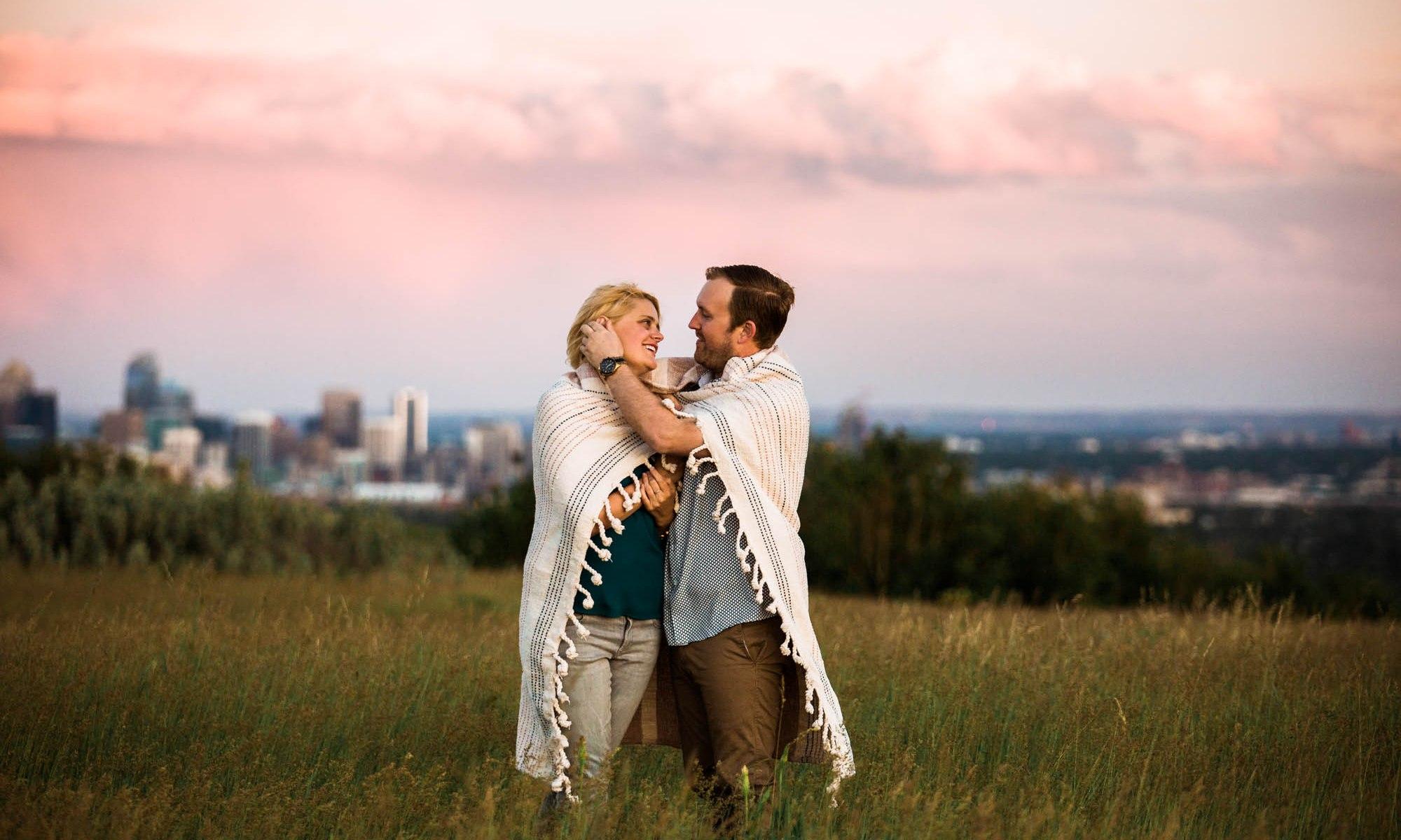 Calgary wedding photographer, engagement photos at Nose Hill Park