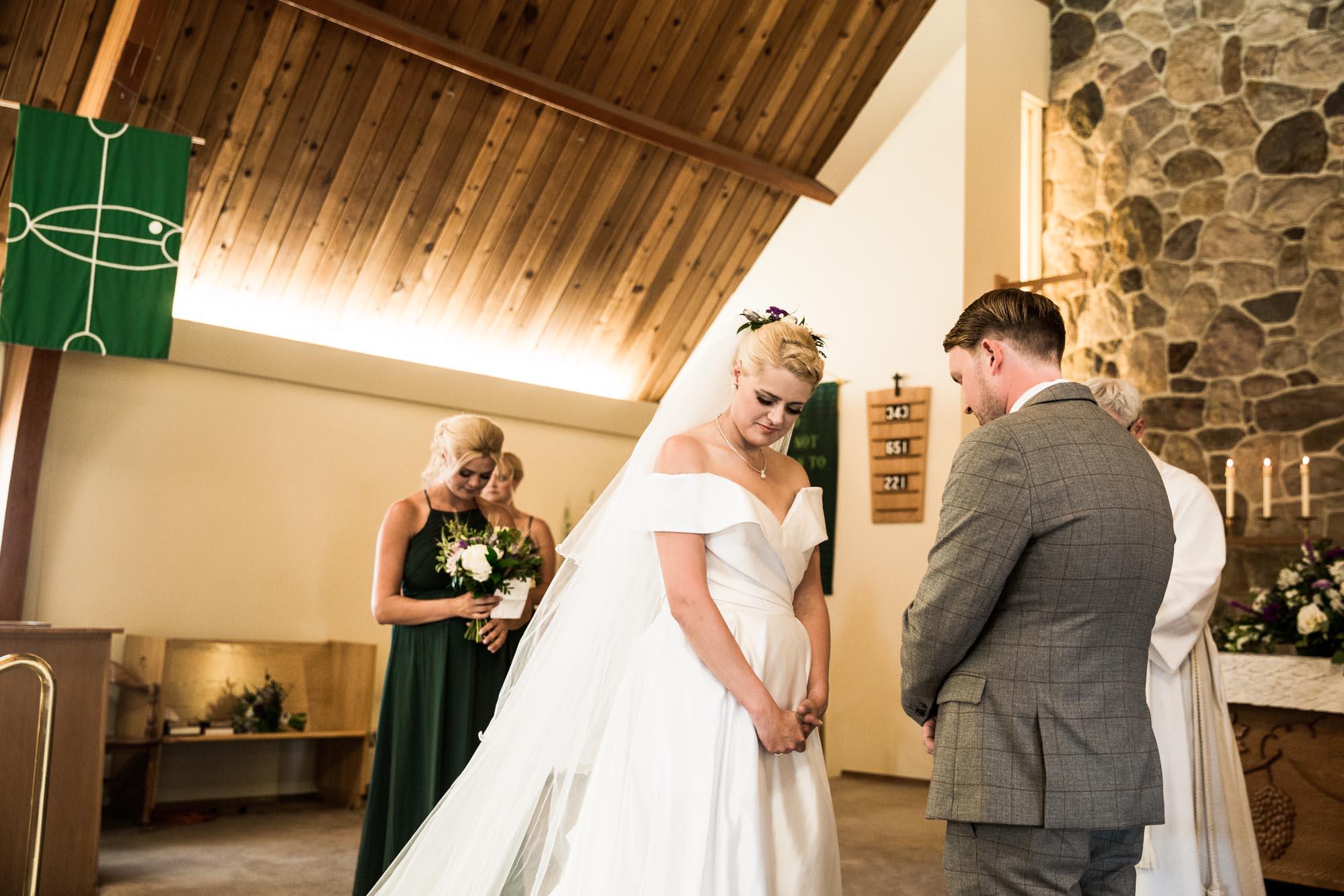 Calgary wedding photographer, photos at the church ceremony