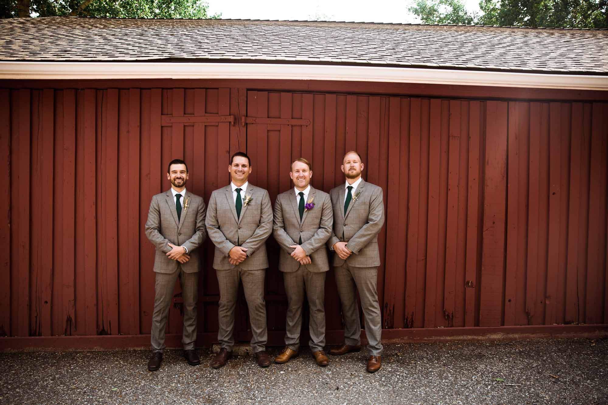 Calgary wedding photographer, portrait of the bridal party at Fish Creek Park