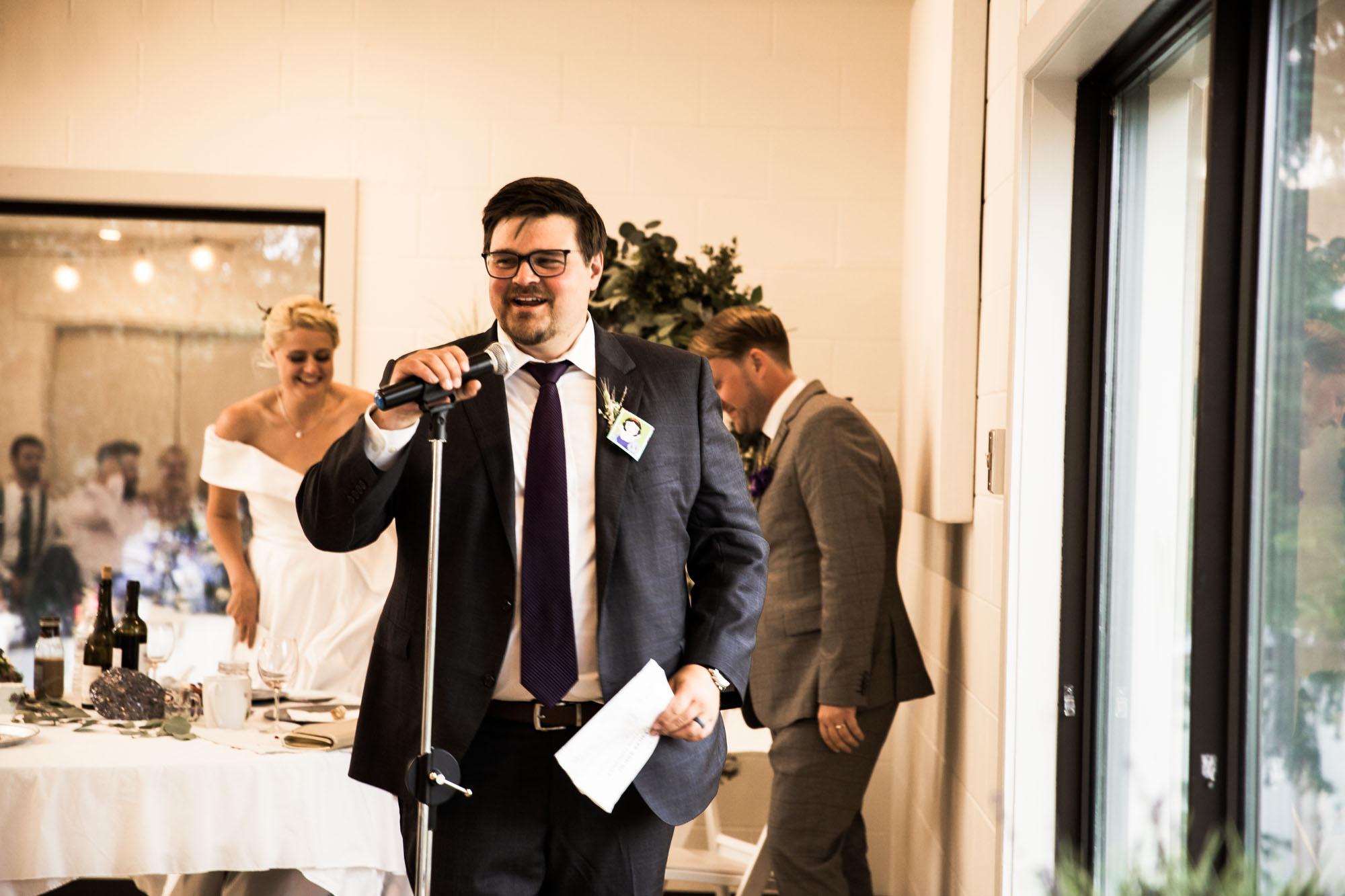 Calgary wedding photographer, the reception